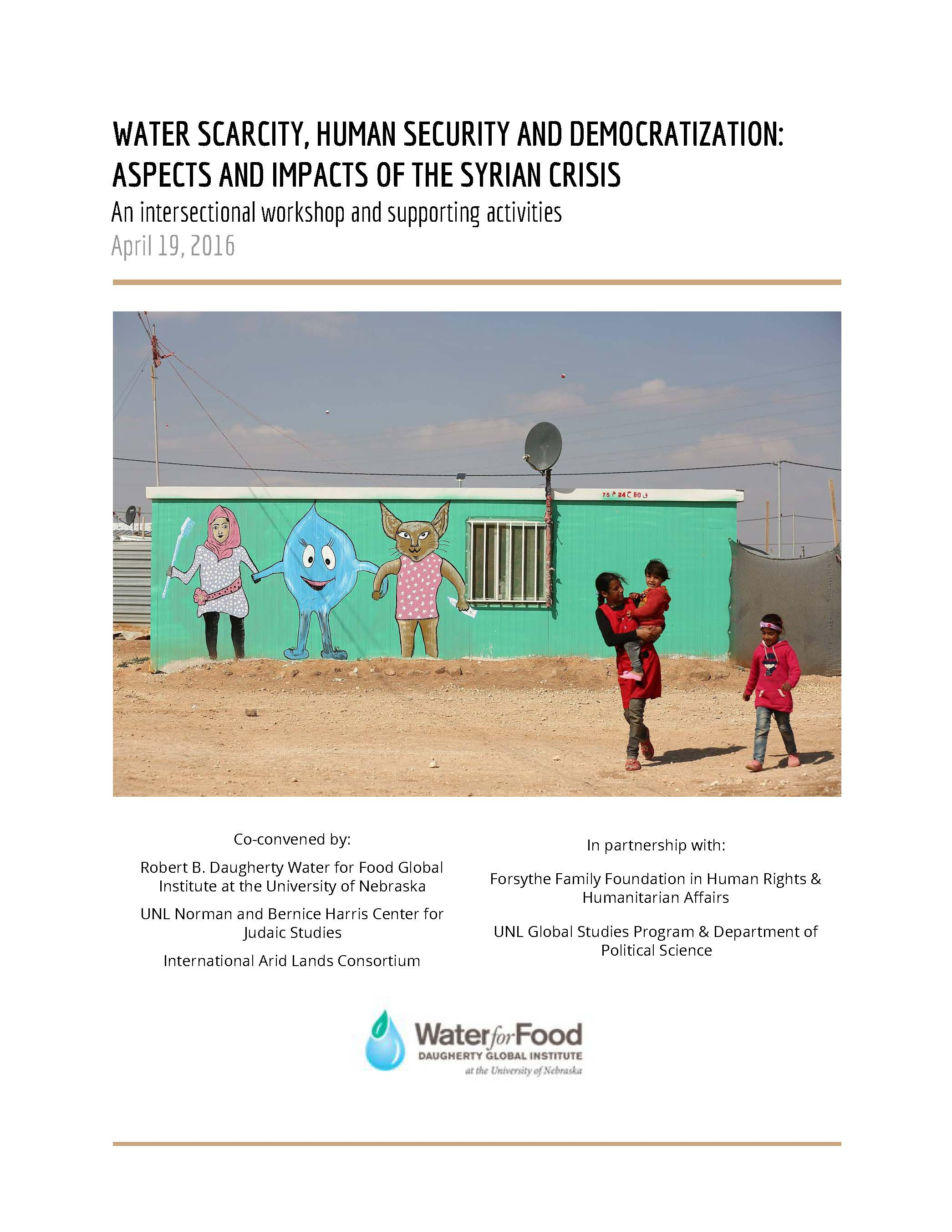 Harris Center was a major co-sponsor of a symposium on water security and the Syrian refugee crisis