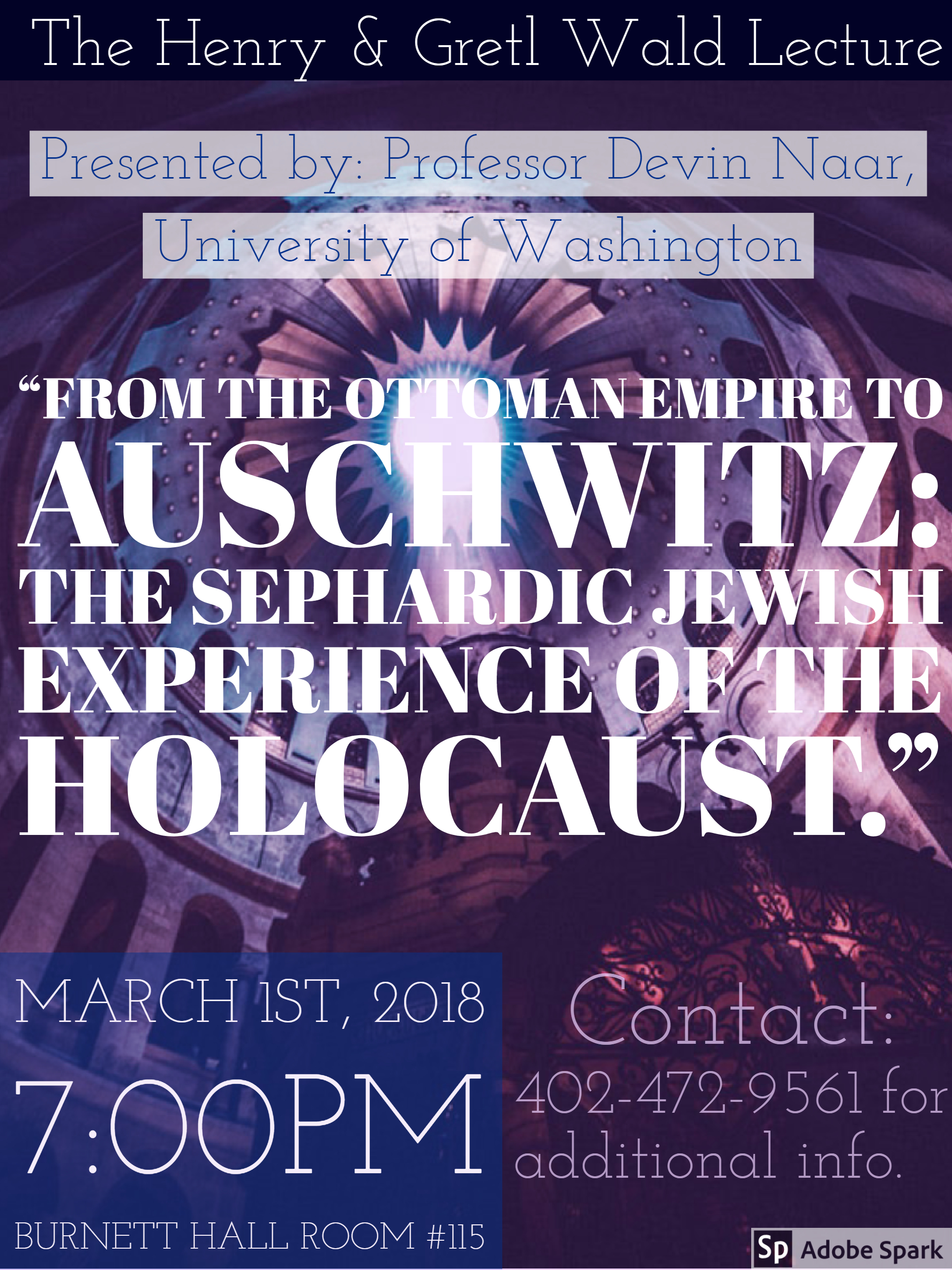 "Naar Talk: ""From the Ottoman Empire to Auschwitz: the Sephardic Jewish Experience of the Holocaust"""